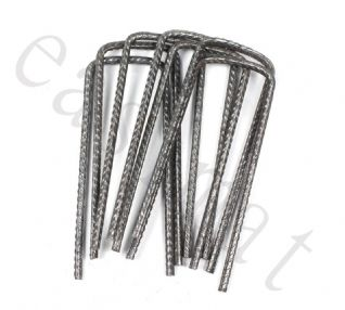 100 - Steel U Pins - Weed control fabric metal pins